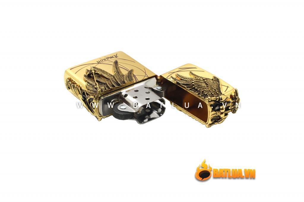 Bật lửa Zippo chính hãng Amazons Angel Ares phiên bản vàng