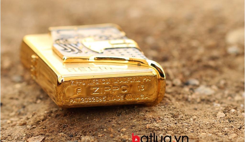 Bật lửa Zippo chính hãng Helm mạ vàng