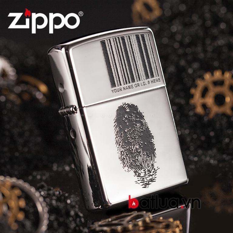 Bật lửa Zippo in dấu vân tay