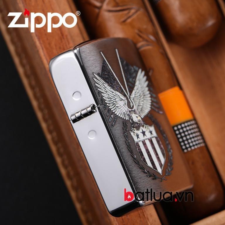 Zippo chính hãng Phiên bản 1941 khắc cờ mỹ 29093