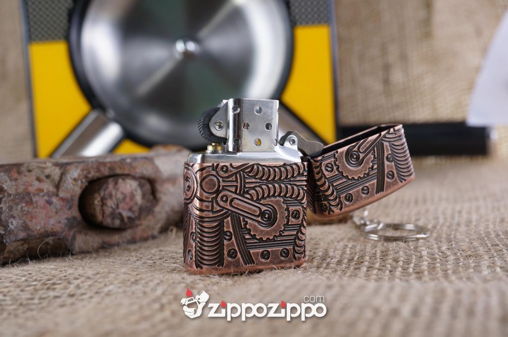 Zippo copper khắc 4 mặt
