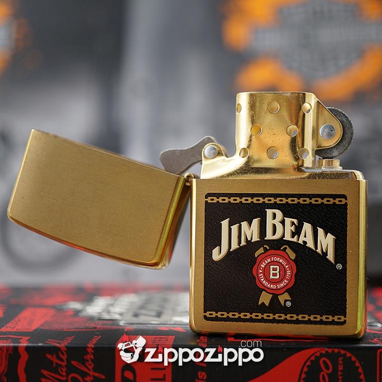 Bật lửa zippo cổ Brass Jinbeam sản xuất năm 2000