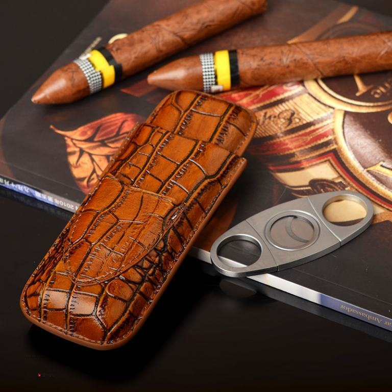 set bao da đựng Cigar (xì gà), dao cắt Cigar Cohiba