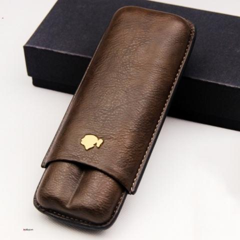 Bao da đựng Cigar (xì gà) Cohiba chính hãng loại 2 điếu