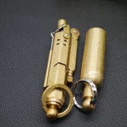 Bật lửa bằng đồng nguyên chất kiêm móc treo chìa khóa JiFeng JF027 - Mã SP: BL00937
