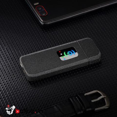 Bật Lửa Cảm Ứng Sạc USB Màu Đen Nhám