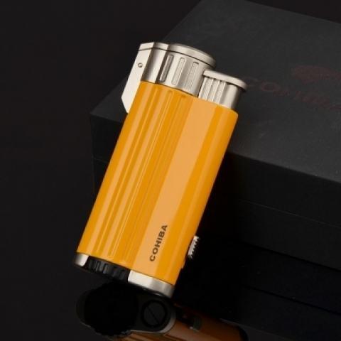 Bật lửa Cohiba khò 3 tia COB 54 ( Màu Vàng )
