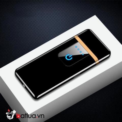Bật lửa điện cảm ứng sạc USB TH767 màu đen bóng