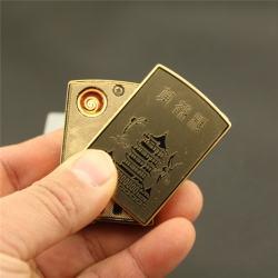 Bật lửa điện Dinuo-D178 họa tiết Hoàng Hạc Lâu sạc điện bằng usb - Mã SP: BL09220