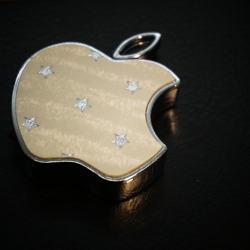 BẬT LỬA ĐIỆN SẠC PIN QUA USB  logo hình apple MS66 005 - Mã SP: BL00260