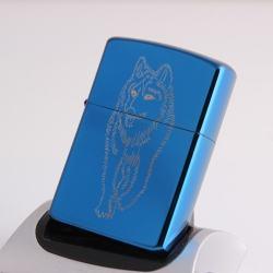Bật lựa điện sạc qua USB kiểu dáng Zippo con chó sói Mẫu 45  MS66 072 - Mã SP: BL00645
