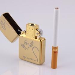 Bật lựa điện sạc qua USB kiểu dáng Zippo tình yêu Mẫu 46  MS66 073 - Mã SP: BL00647