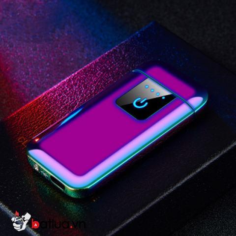Bật lửa điện sạc USB cảm ứng màu Tím