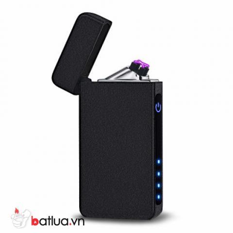 Bật lửa điện sạc USB cảm ứng vân tay màu đen