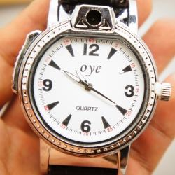 Bật lửa đồng hồ đeo tay bằng da MS88 052