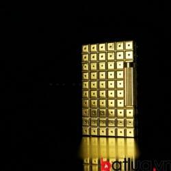 Bật lửa dupont mẫu 155 kẻ vuông chấm màu vàng - Mã SP: BL09175