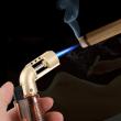 Bật Lửa Gas Bơm Hơi Trong Suốt Mẫu Mới Ra Của Baicheng Màu Đen