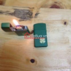 Bật lửa hoạ tiết cỏ bốn lá may mắn - Mã SP: BL09850