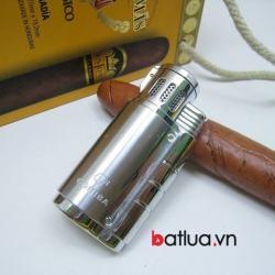Bật lửa hút xì gà chính hãng COHIBA loại 3 tia cực mạnh - Mã SP: BL03086