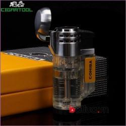 Bật lửa hút xì gà cohiba chính hãng loại 3 tia - Mã SP: BL03104