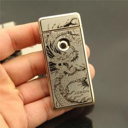 Bật lửa Jobon tia lửa điện ZB-308B in hình rồng sạc pin USB - Mã SP: BL09328