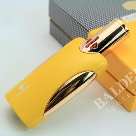 Bật Lửa Khò xì gà cohiba 4 tia cực mạnh ( Màu vàng )