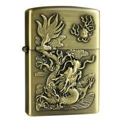 Bật lửa kiểu dáng giống Zippo trạm khắc rồng nổi mạnh mẽ - Mã SP: BL09054