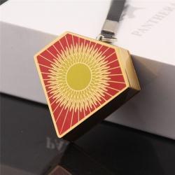 Bật lửa móc treo sạc điện USB hình kim cương bề mặt in hình mặt trời - Mã SP: BL09198