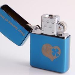 Bật lửa sạc điện không dùng ga kiểu dáng zippo mẫu 28 trái tim cỏ 4 lá MS66 050 - Mã SP: BL00622