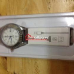 Bật lửa sạc điện qua USB kiêm đồng hồ đeo tay dây da - Mã SP: BL09848