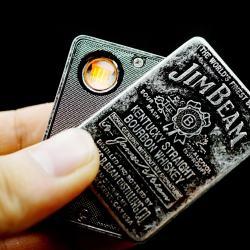 Bật lửa sạc điện SY-605 in logo rượu whisky JIMBEAM - Mã SP: BL01973