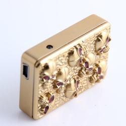 Bật lửa sạc Pin USB SY605 in hình đầu lâu MS66 076 - Mã SP: BL00969