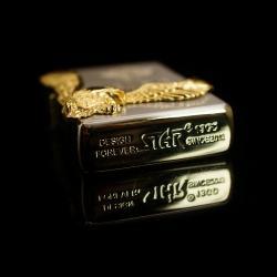 Bật lửa Sạc USB kiểu dáng zippo STAR EAGLE WINGS chim đại bàng ôm xung quanh sườn bật lửa độc đáo sang trọng ( mầu vàng) - Mã SP: BL01693