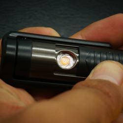 Bật Lửa Sạc USB thế hệ mới Ver 2 Có thêm máy cạo râu MS66 009 ( có tem) - Mã SP: BL00534