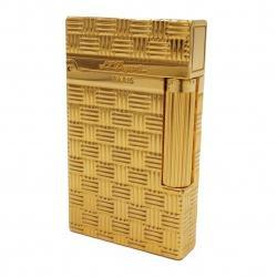 Bật lửa ST. Dupont mẫu 139 caro đan xen màu vàng - Mã SP: BL09029
