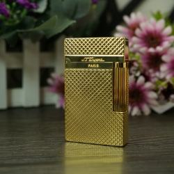 Bật lửa S.t Dupont Kiểu dáng caro vuông nhỏ mầu vàng lôi cuốn Mẫu 117 - Mã SP: BL02030