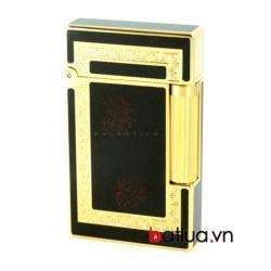 Bật lửa ST Dupont mẫu A079 vàng viền đen - Mã SP: BL10221