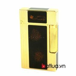 Bật lửa ST Dupont mẫu A080 đen vàng viền vàng - Mã SP: BL10258