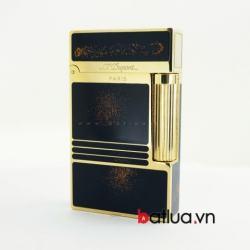 Bật lửa ST Dupont mẫu A094 đen nhũ vàng ánh đỏ - Mã SP: BL10232