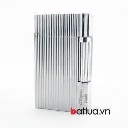 Bật lửa ST Dupont mẫu A108 bạc sọc nhỏ - Mã SP: BL10235