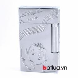 Bật lửa ST Dupont mẫu A144 bạc cô gái hát - Mã SP: BL10251