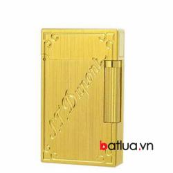bât lửa st dupont mẫu vàng chữ chéo - Mã SP: BL03262
