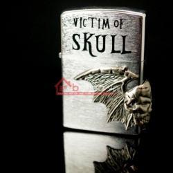 Bật lửa Star Victim of Skull màu bạc lịch lãm sang trọng - Mã SP: BL01223