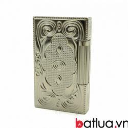 Bật lửa S.T.Dupont chạm khắc hoa văn bạc nổi - Mã SP: BL09993