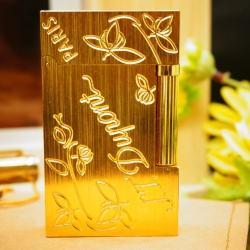Bật Lửa S.T.Dupont chữ Dupont hoa lá khắc chìm Mẫu 90 - Mã SP: BL00357