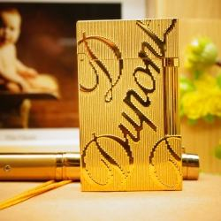 Bật Lửa S.T.Dupont chữ Dupont khắc nổi trên nền vàng Mẫu 85 - Mã SP: BL00361