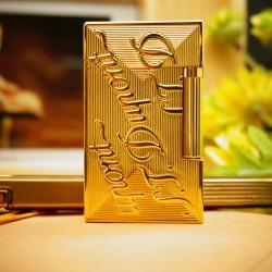 Bật Lửa S.T.Dupont chữ Dupont nổi trên nền vàng Mẫu 82 - Mã SP: BL00365