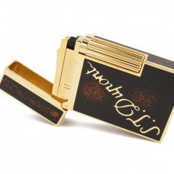 Bật Lửa S.T.Dupont có in chữ dupont viền chỉ mầu vàng - mẫu 131 - Mã SP: BL09021