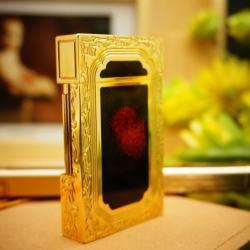 Bật Lửa S.T.Dupont đen loang đỏ ánh vàng quý phái Mẫu 78 - Mã SP: BL00369
