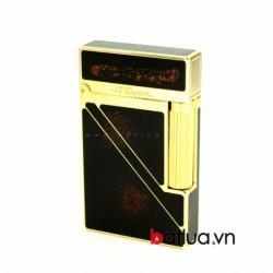 Bật lửa S.T.Dupont đen viền vàng vát chéo một bên A095 - Mã SP: BL10271